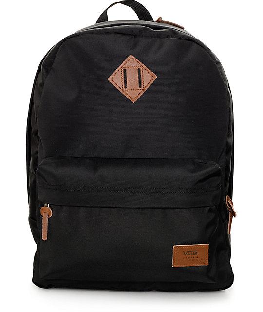 vans bags vans old skool plus true black backpack AGIYNYX