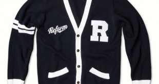 varsity sweater custom cardigans | knitted varsity cardigans | reform clothing co. AFFDCAM