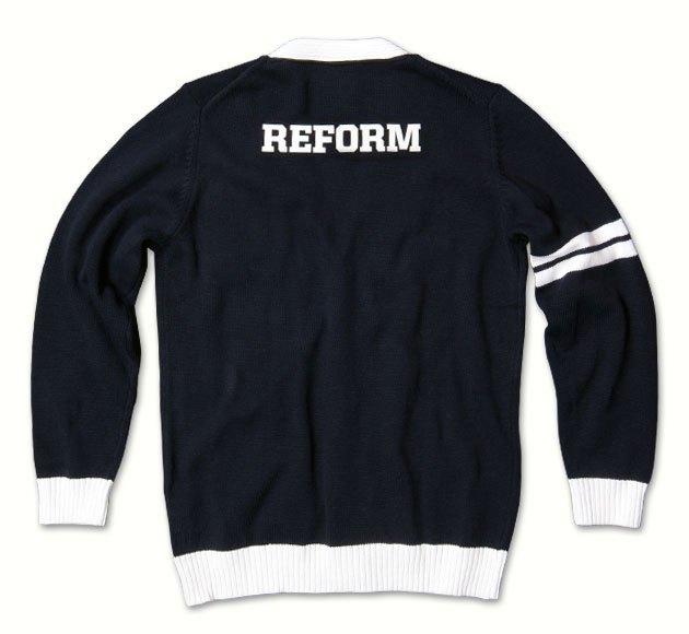 varsity sweater custom cardigans | knitted varsity cardigans | reform clothing co. FRCRZAO