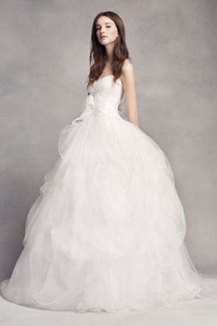 vera wang wedding dress long ballgown modern chic wedding dress - white by vera wang KGMQUFL