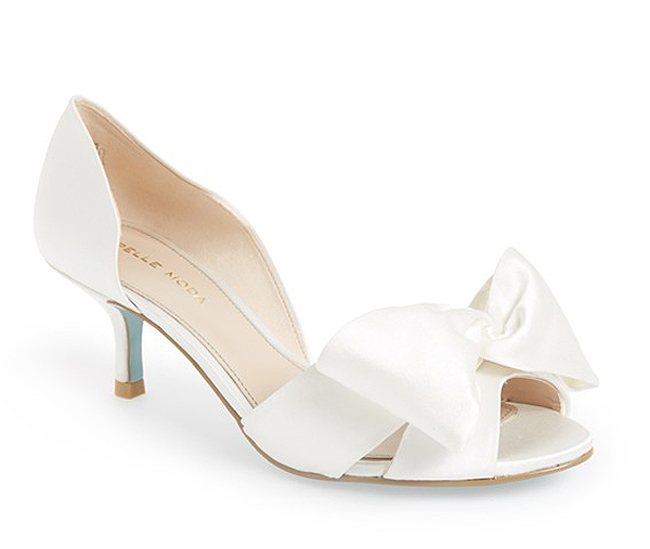 wedding shoes low heel alera by pelle moda AMWUDED