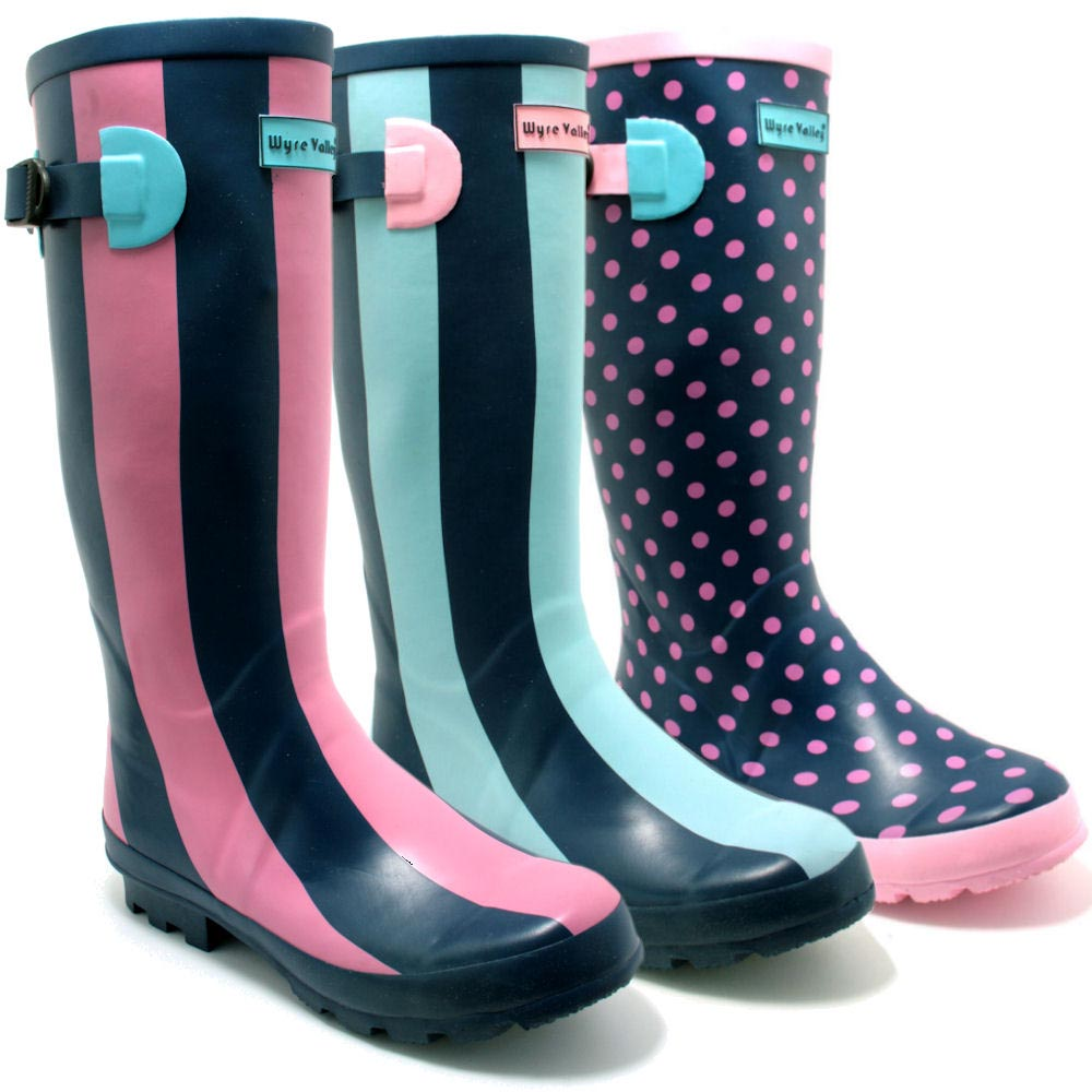 wellingtons boots image is loading new-womens-wyre-valley-wellies-wellington-boots-sz- IOEVPCL