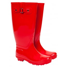 wellingtons boots ladies classic wellington boots - red LBFWCEY