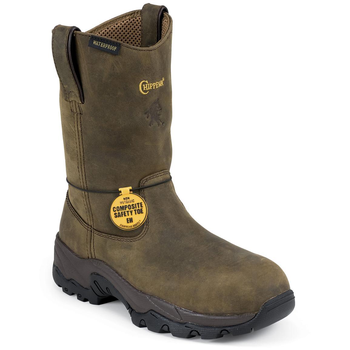 wellingtons boots menu0027s chippewa® waterproof composite toe wellington boots EBDEVFY