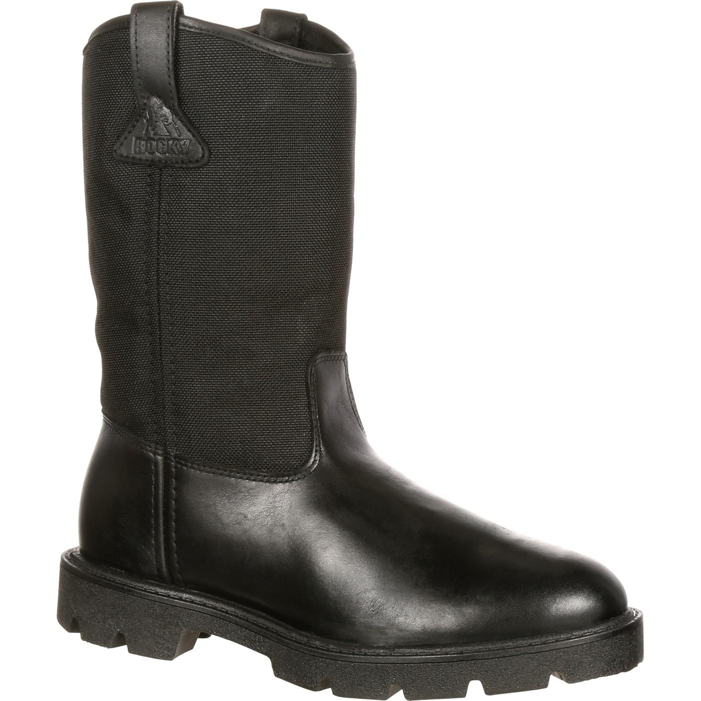 wellingtons boots rocky warden pull-on wellington duty boot, , large RTWBLBR