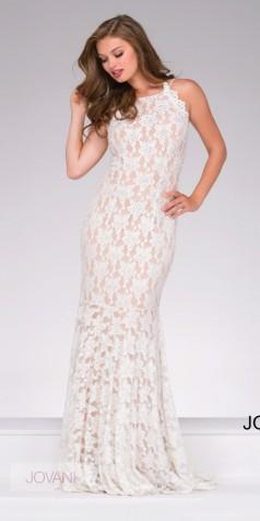 white lace prom dress elegant long simple lace dress 41269 - jovani - 41269 HVNYOYH