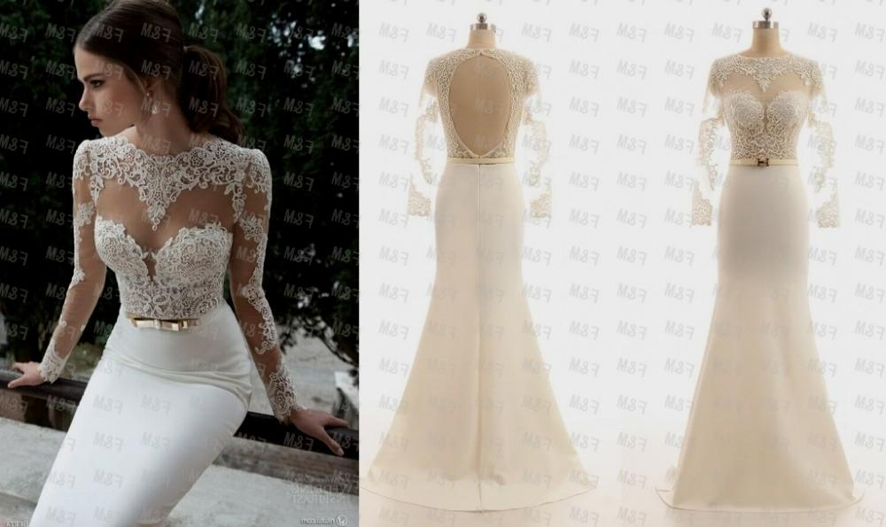 white lace prom dress mermaid real picture 2015 cheap white . NGHJKIZ