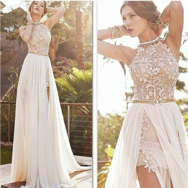 white lace prom dress prom dresses white lace 52 ZKAKHUF