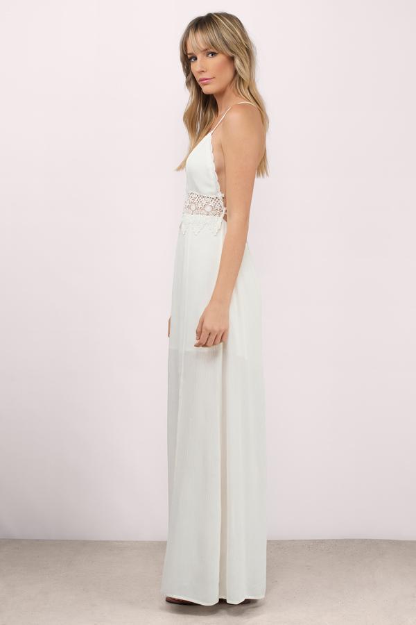 white maxi dress ... dusk to dawn cream crepe gauze maxi dress ... FCXJDYG