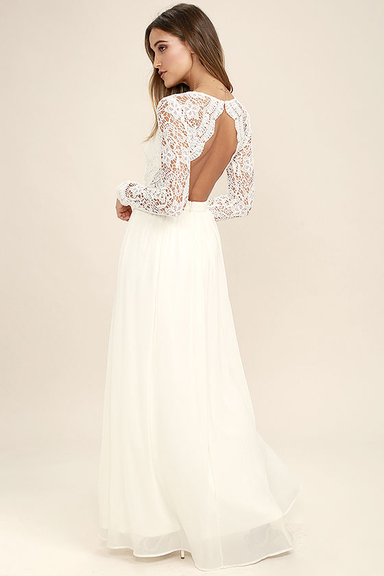 The great white maxi dress for all