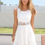 Look like an angel in white summer dress