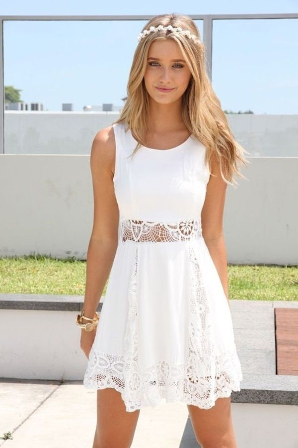 white summer dress white dress - summer fashion must have TLBVNQR