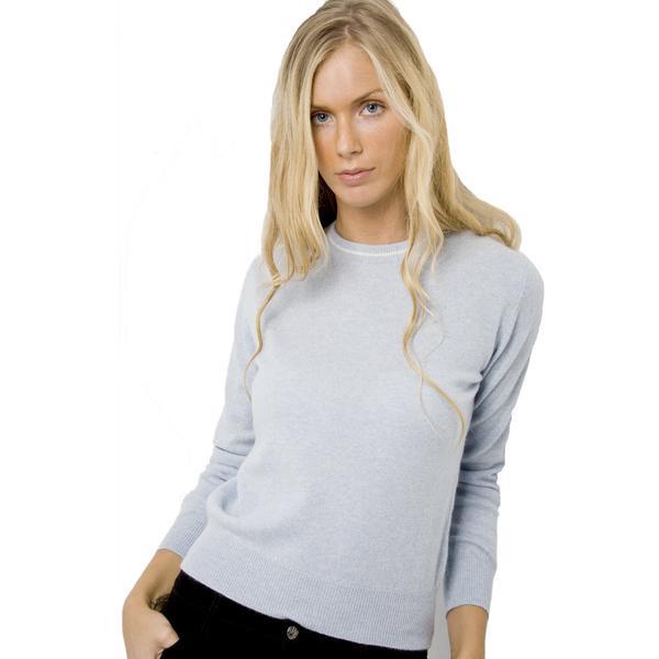 womenu0027s crew neck cashmere jumper - i love cashmere MRGEIGY