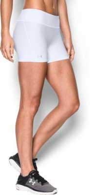 womenu0027s ua authentic 4u201d compression shorts, white, zoomed image VTQSKTZ