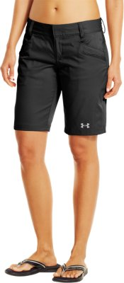 womenu0027s ua tellervo walking shorts, black PECZYBC
