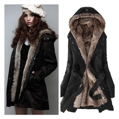 women winter jackets save $104.99 on zicac women`s thicken fleece faux fur warm winter coat hood KMOFXJM