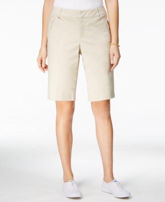 womens bermuda shorts charter club d-ring twill shorts, created for macyu0027s TWPKRZL