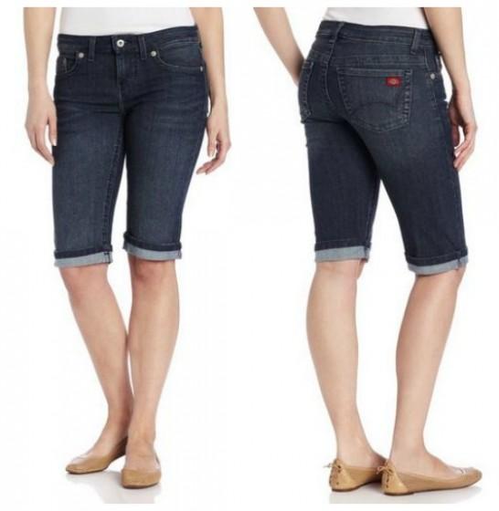 womens bermuda shorts dickies womenu0027s denim bermuda short KBZAUDL