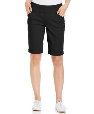 womens bermuda shorts jag ainsley bermuda pull-on twill shorts XIXFWNG