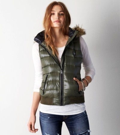 womens down vest ... down vest to complete your look with a pair of jeans and boots DYTPFBW
