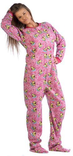 womens footed pajamas footed pajamas offer the best footed pajamas splish splash pink adult  fleece - IZWTYDC