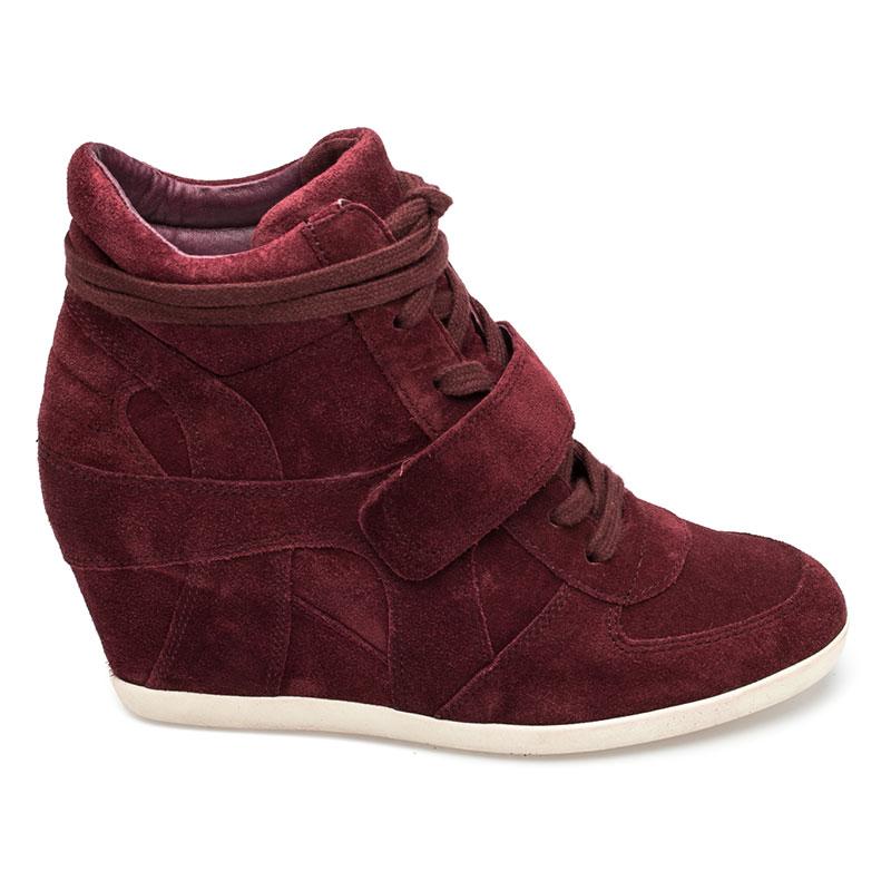 Womens sneakers ash bowie womens wedge sneaker barolo suede 360366 (643) DMONIWO