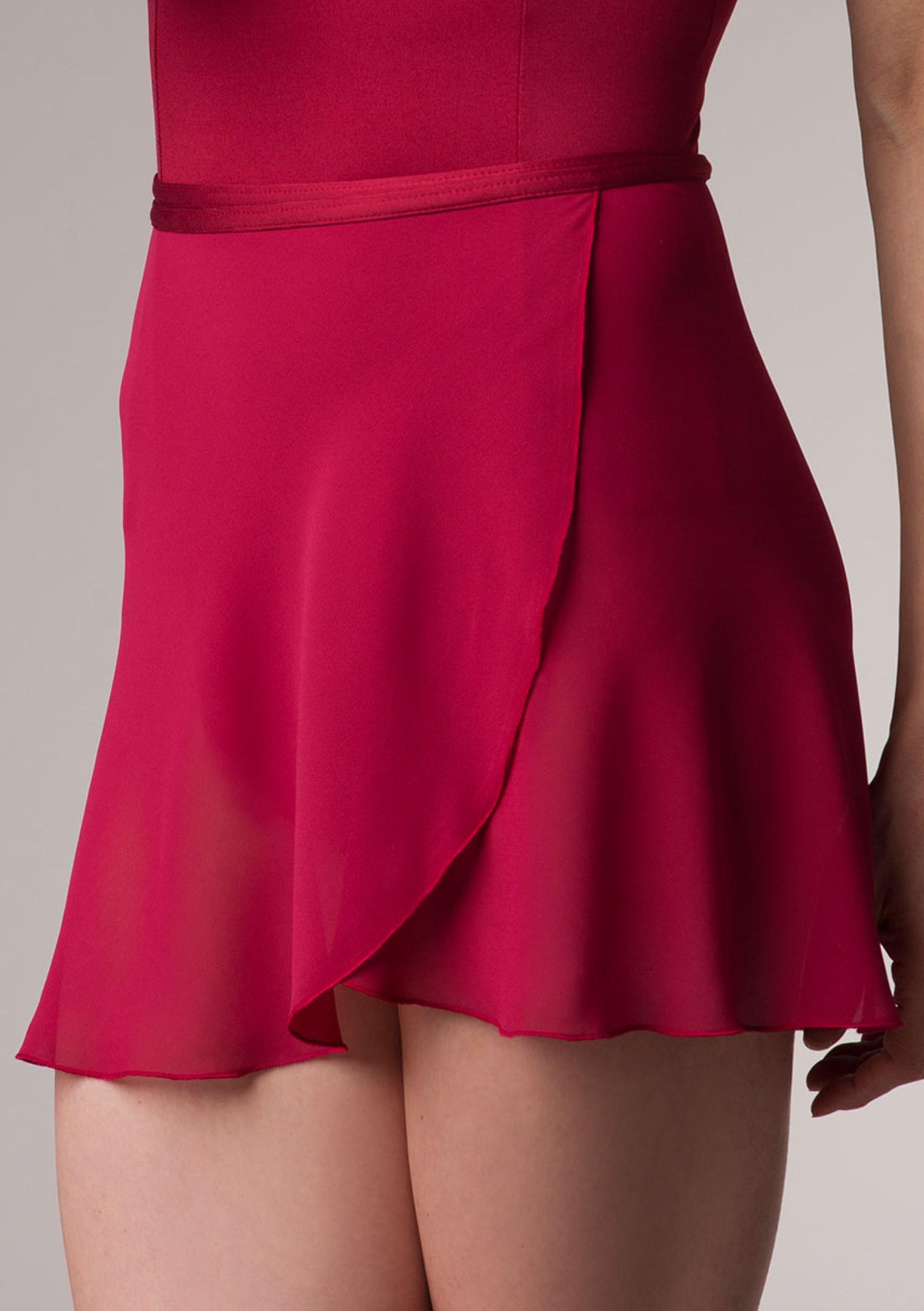 wrap skirt in chiffon | ainsliewear NWPWGLG