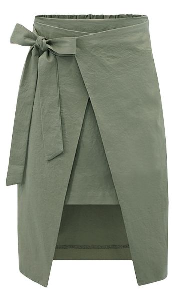 wrap skirt irregular patchwork split bowknot high waist knee length skirt. layered wrap  skirt BNJFIJK
