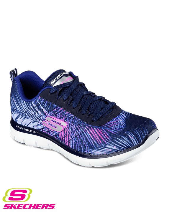 zapatos skechers skechers tropical breeze navy/pink athletic shoe HGNFMCQ