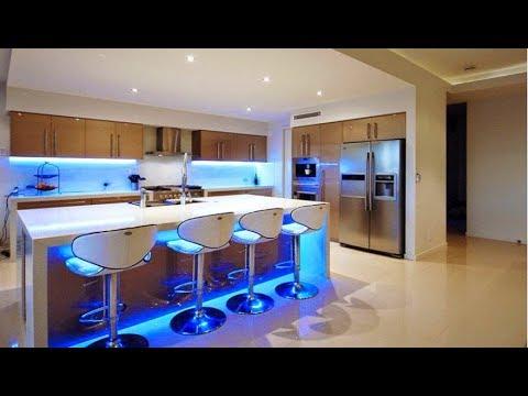 30 wonderful modern kitchen led lighting ideas 2017, ultra modern kitchen lighting PCNCUQV