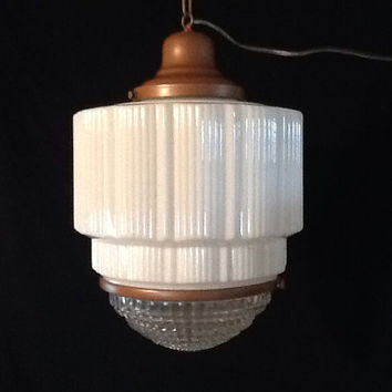 art deco lighting vintage art deco skyscraper light pendant schoolhouse commercial fixture VDBRVFT