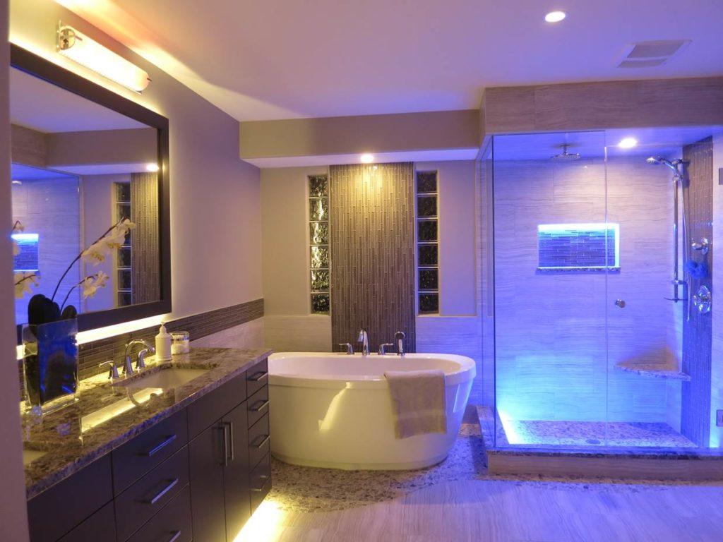 bathroom led lighting ideas HGXLFGF