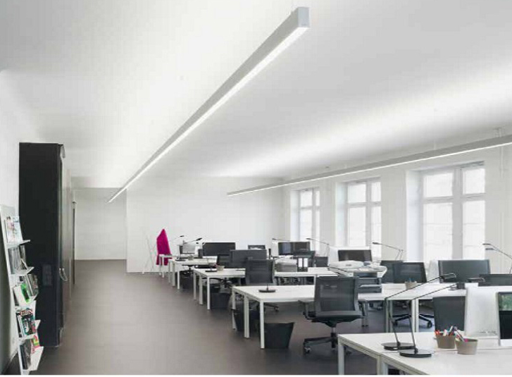 Indirect LED interior lighting direct/indirect led linear light 54w UPZYLBR