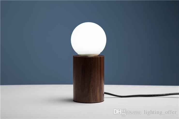 lamp for small table 2018 black walnut small table lamps circular wooden creative personality  retro nostalgia JZYNVOM