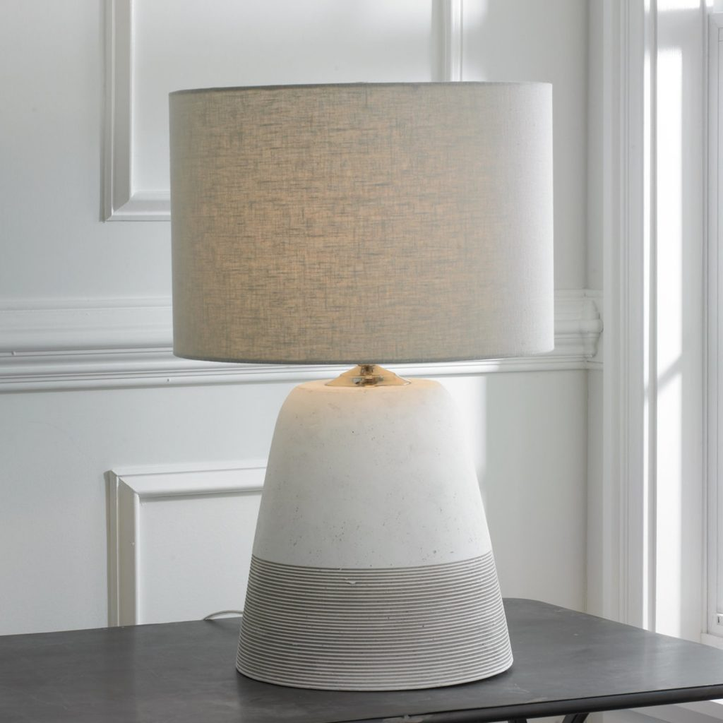 lamp for small table grooved concrete table lamp – small light_gray ZQUXLIZ