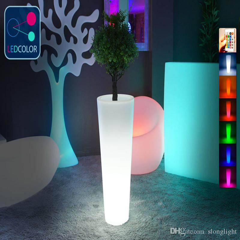 led flower pots 2018 outdoor waterproof remote control color changing big luminous flower  power led OXWEUHJ