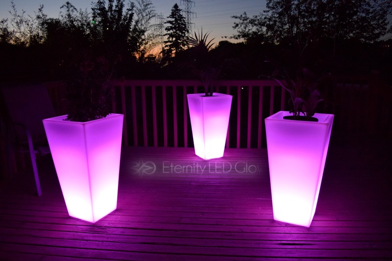 led flower pots ... flower pot illuminated planter led glow pot led planter KFZNXCQ