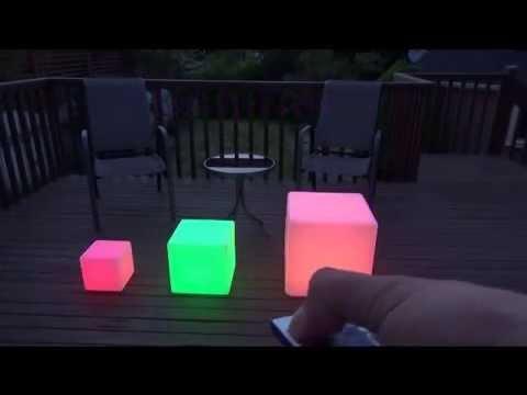 led furniture lights led light up waterproof cordless glow cube seat furniture - 17u201d, 12u201d , TWKYZLN
