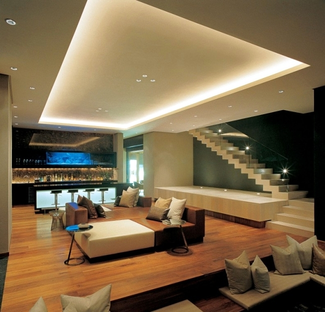 led lighting ideas 33 ideas for ceiling lighting and indirect effects of led lighting beautiful BXMUWKA