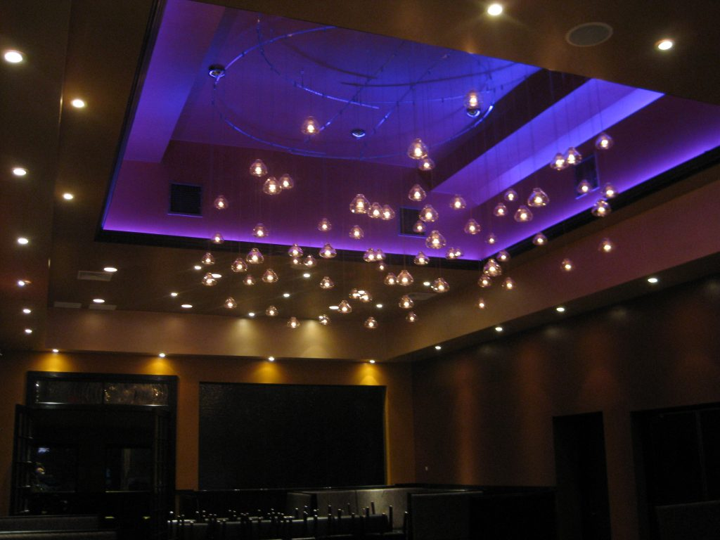 led lighting ideas luchentou0027s ristrante with rgb led lights used in the seating area. JHOHPMS