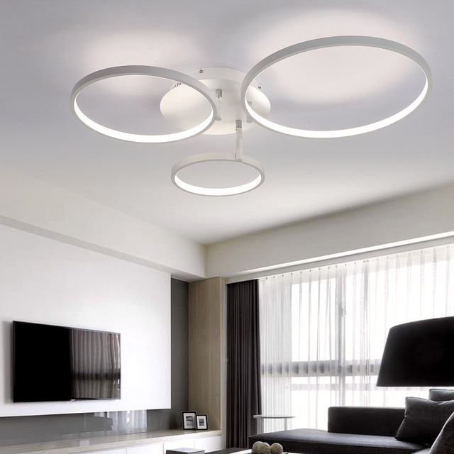 Modern Ceiling Lights new arrival circle rings designer modern led ceiling lights lamp for living FLYZNDL
