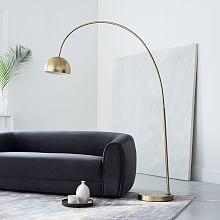 Modern Floor Lamps overarching metal shade floor lamp ... BKMLTTI