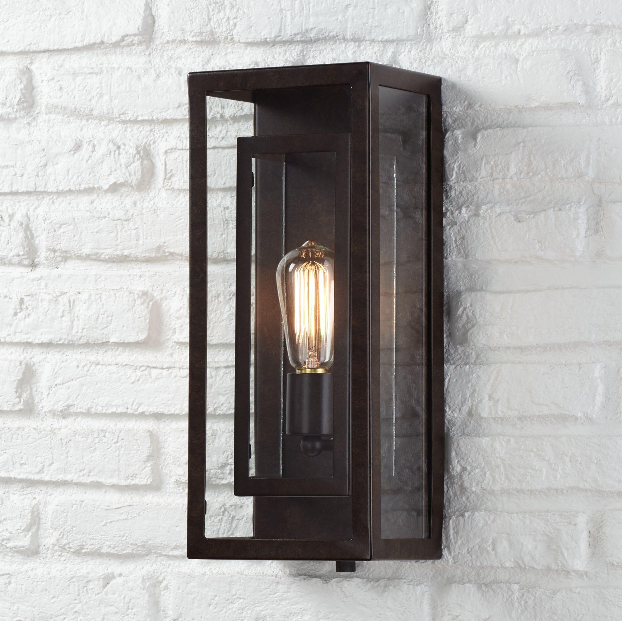 modern outdoor lamps double box 15 1/2 WXJAXYU