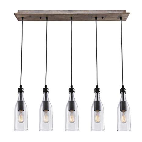 Pendant lights lnc wood pendant lighting 5-light ceiling lights linear chandelier lighting ZEDTLLF