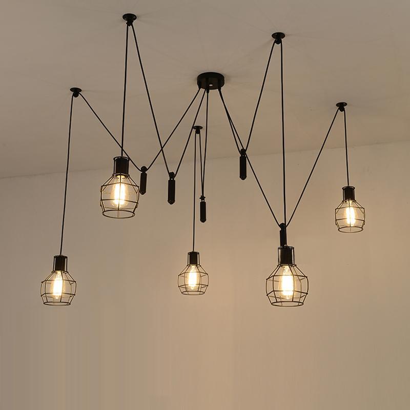 Pendant lights spider pendant lights led spider light modern lamp single pulley pendant  light YKLOFCP