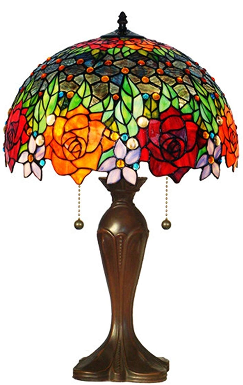 tiffany lamps amora lighting amora lighting am1534tl16 tiffany style roses table lamp 23  in THOVJFT