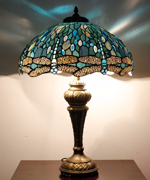 tiffany lamps nerja 16t03 18inch dragonfly tiffany table lamp APYLZHJ