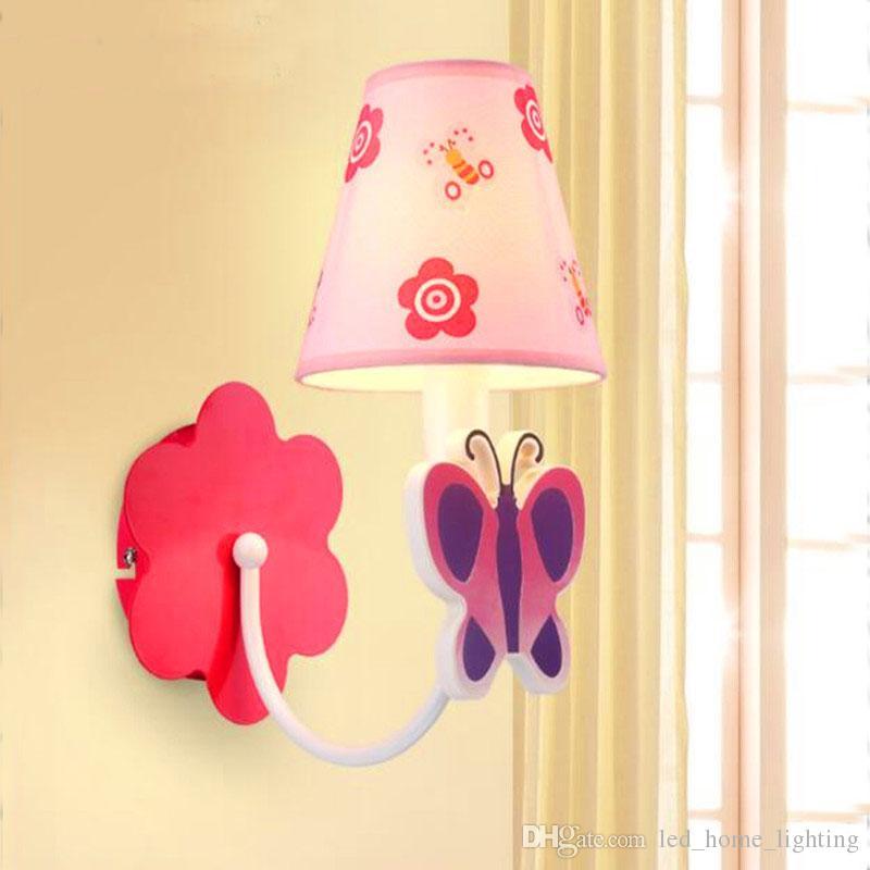 wall lamp for kids room 2018 children room colored abajur trojan led wall light fabric shade  cartoon WBXYMIU