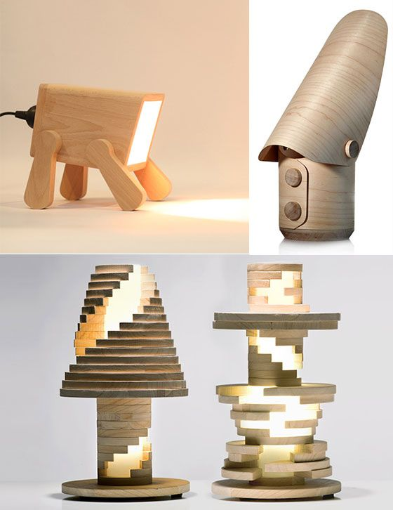 wood lamps designs go nature: 9 creative and cool wooden lamp designs ZHSULEO