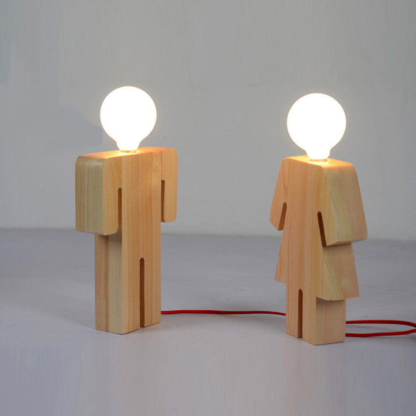 wood lamps designs modern design boy u0026 girl desk light wood base e27 110v 220v table FGDXXSH
